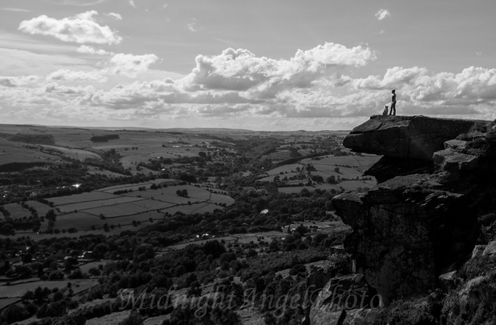 Rusty and I on Top of the World at Curbar Edge in the Peak District