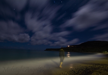 Playing with long exposures at Kato Zakros