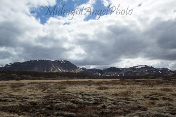 Driving South of Þingvellir National Park