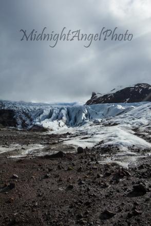 The bottom of the Svínafellsjökull Glacier
