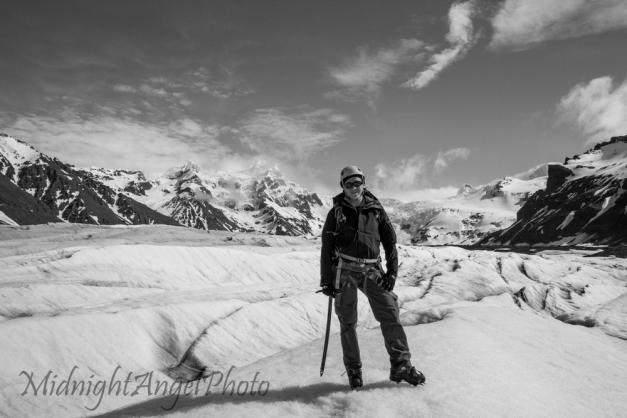 Hiking up the Svínafellsjökull Glacier