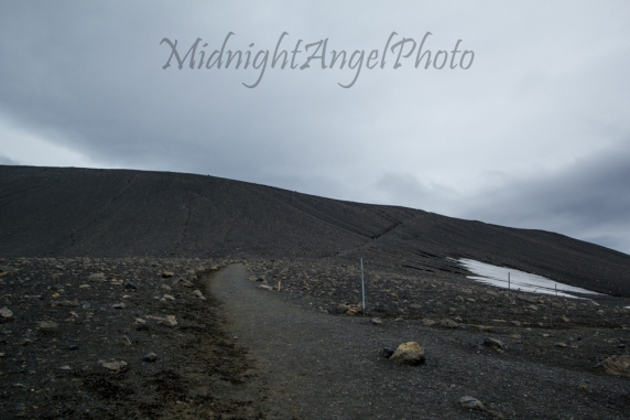 The Trail up to the Rim of Hverfjall Crater