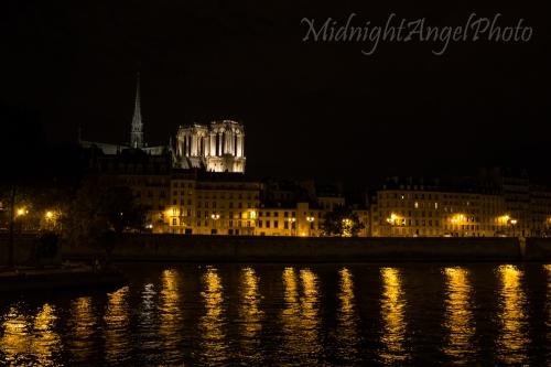 The Notre-Dame Cathedral over the Seine River