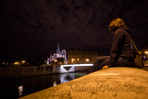 Looking at the beautiful Notre-Dame