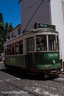The little old trams that are everywhere in Lisbon