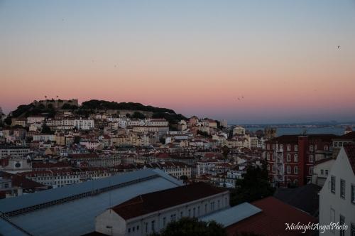 Lisbon, from the Jardim de São Pedro de Alcântara