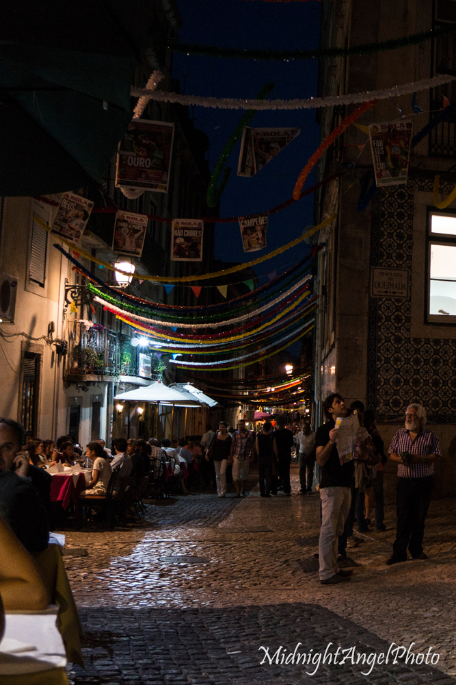 The view from my table of Bairro Alto