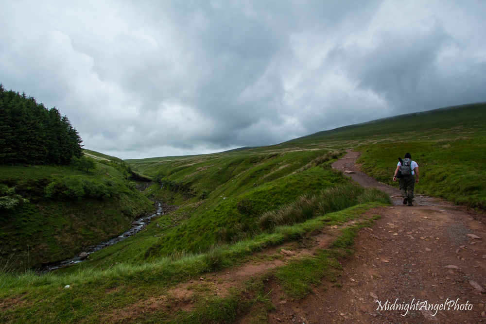 Starting to hike up Pen y Fan!