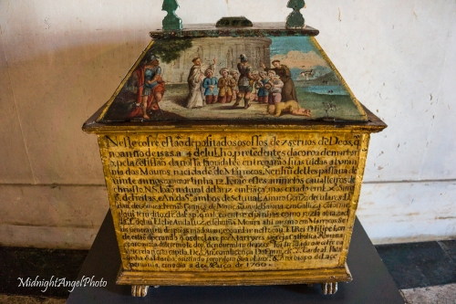 Reliquary chest containing the remains of seven martyrs.