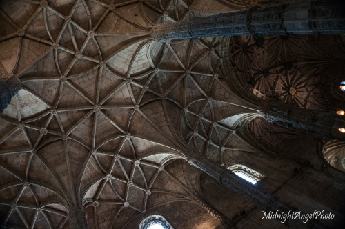 The ceiling of the church of the Mosteiro dos Jeronimos