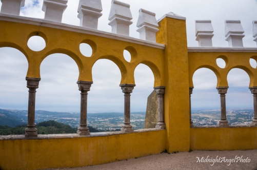 View from the Pena National Palace of the Atlantic Ocean in the Distance