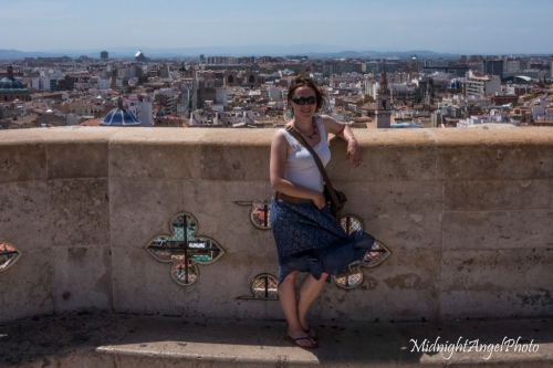 On top of the Valencia Cathedral Tower