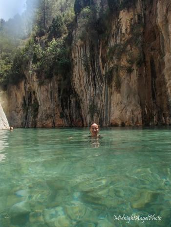 Swimming in La Fuente de Los Baños!