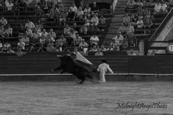 A matador during the Tercio de Veras