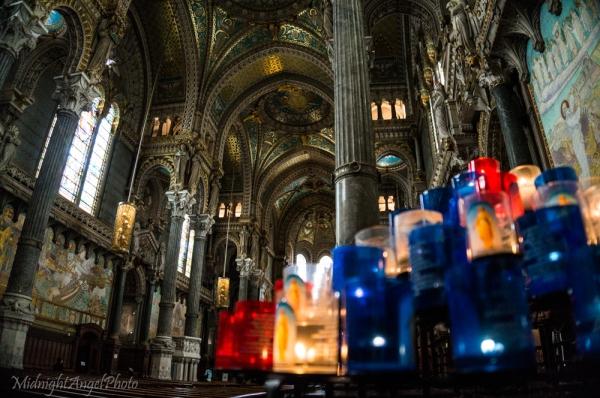 Inside the Basilica of Notre-Dame de Fourvière