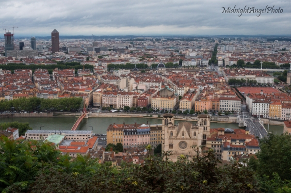 Looking out over Lyon from the basilica