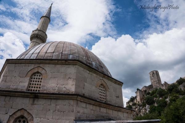 The mosque in Pocitelj, Bosnia & Herzegovina