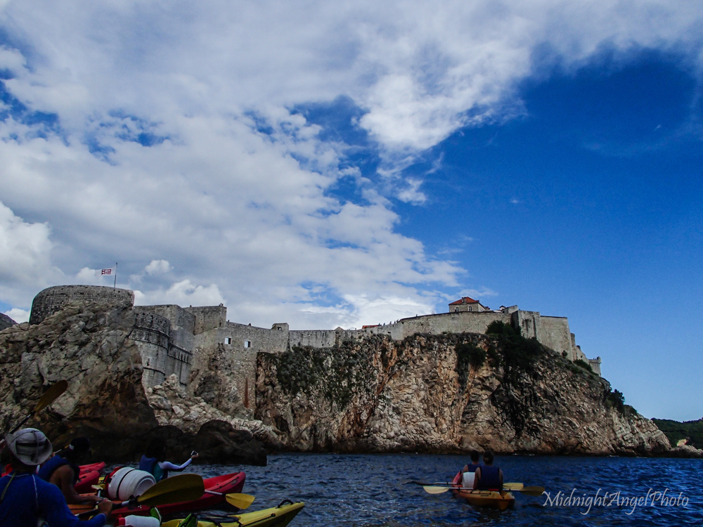 Kayaking around the walls of Dubrovnik