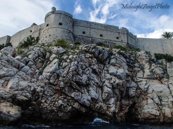 Kayaking around the walls of Dubrovnik