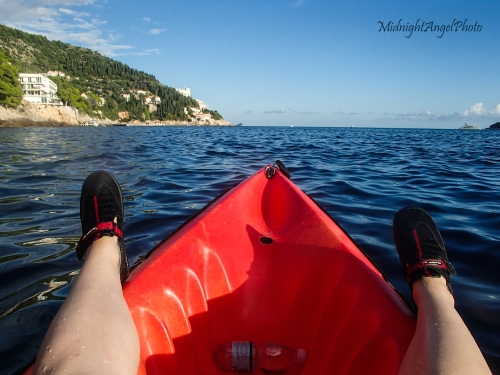 This is the life! Kayaking on the Mediterranean