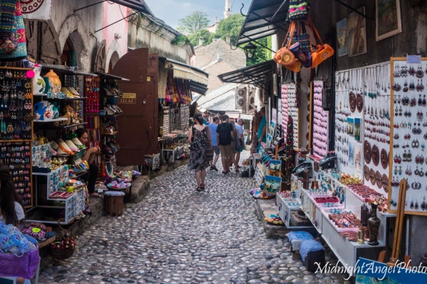 Shopping in the streets of Mostar