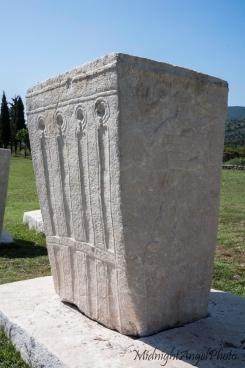 A grave in Radimlja Nekropola, near Stolac in Bosnia & Herzegovina
