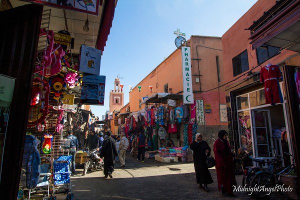 A side street in Marrakesh, Morocco