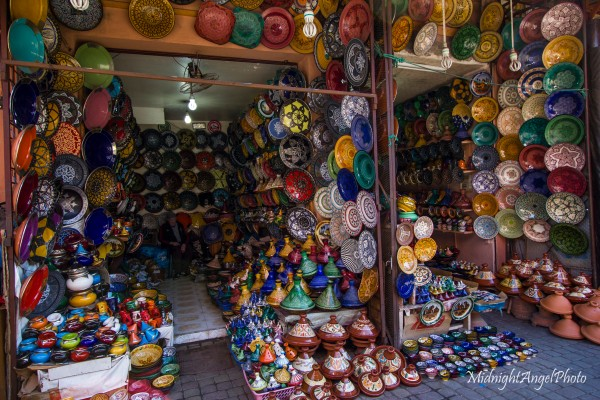 A stall in the souqs of Marrakesh