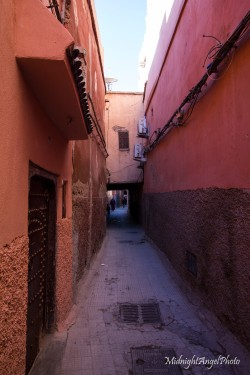 The maze of side streets in Marrakesh