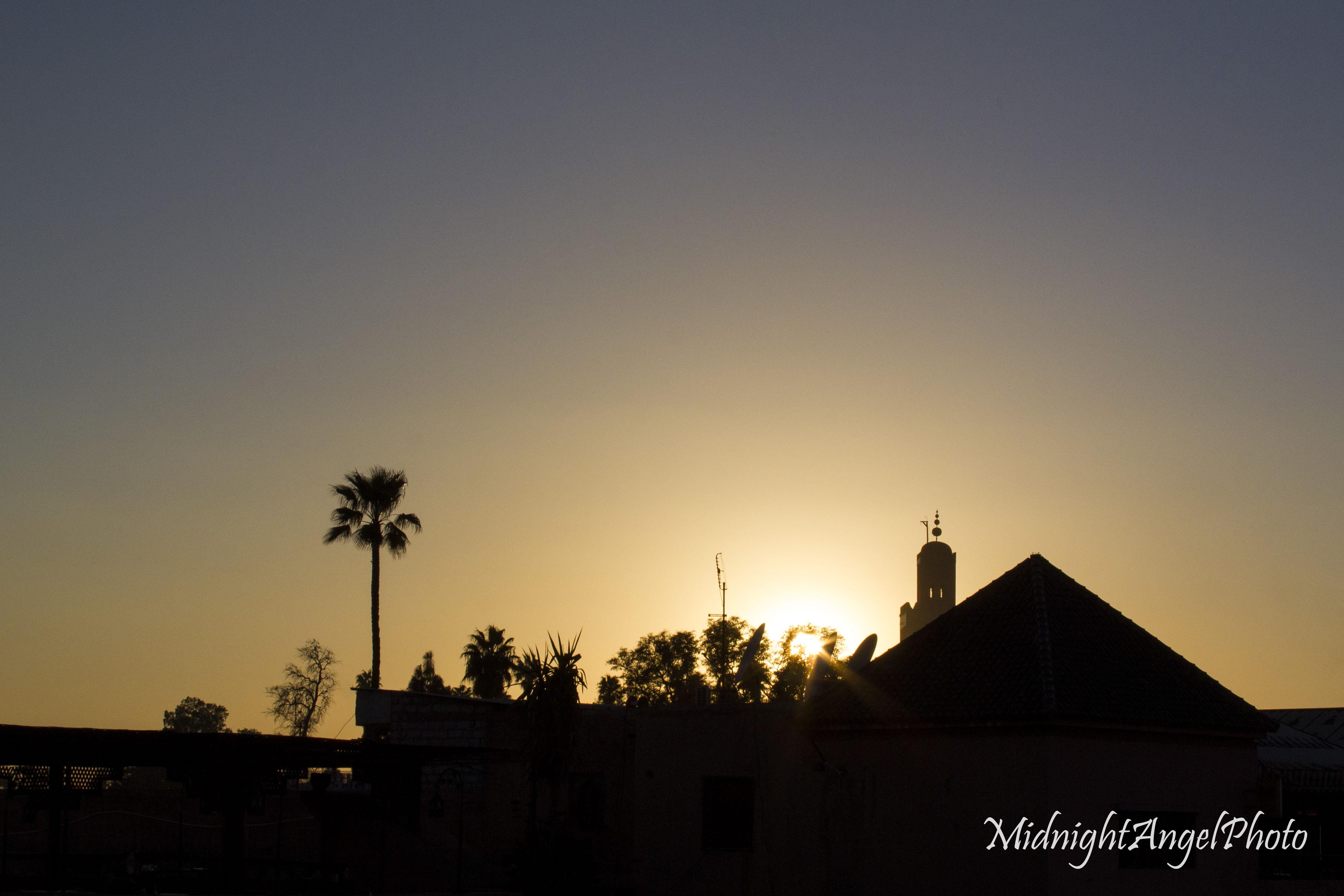 Sunset over Marrakesh, Morocco