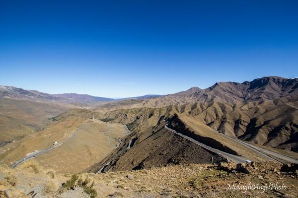 Near the summit of the Tizi n Tichka pass