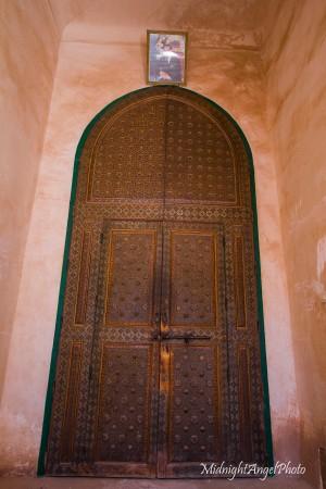 The door to the inner living area