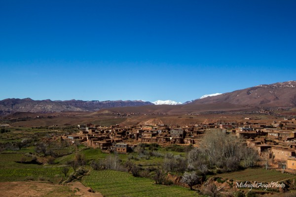 The view of Telouet from the roof of the Kasbah