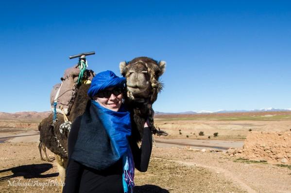 Camel riding near Aït Benhaddou