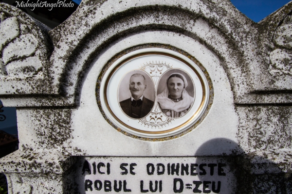 Most of the gravestones had pictures of the individuals