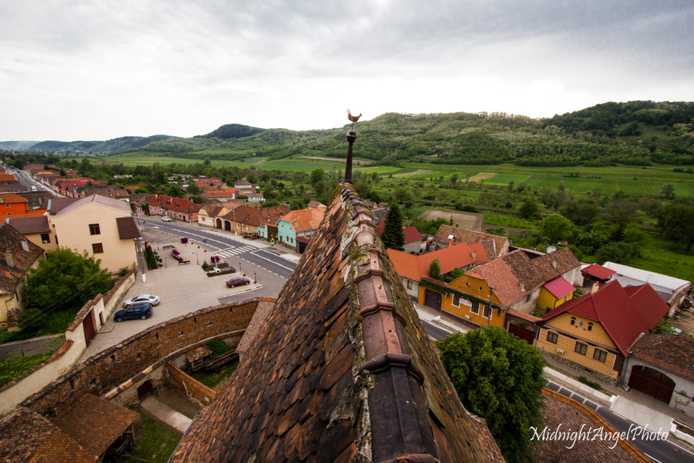 Up in the tower of the Biserica Fortificata din Axente Sever