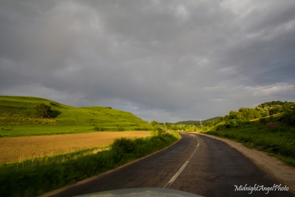 Driving through the Romanian Countryside