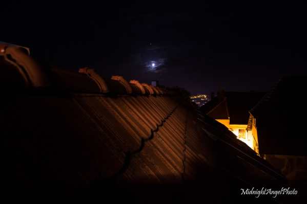 The view from the balcony of my hotel room in Sighișoara