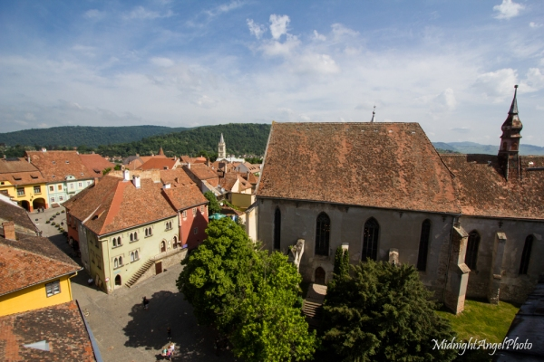 The view from the clock tower of the Church of the Dominican Monastery