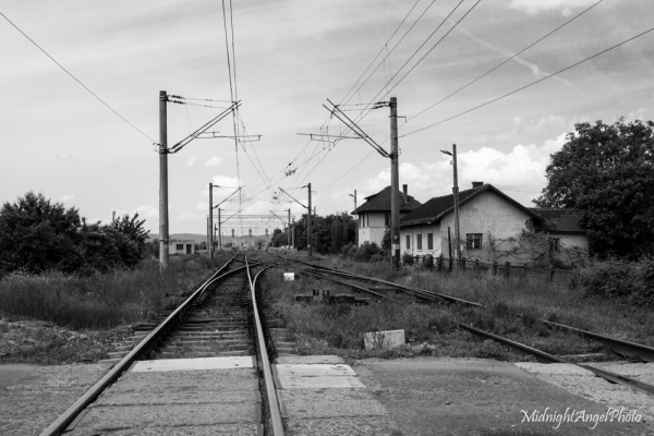 Train tracks in Romania