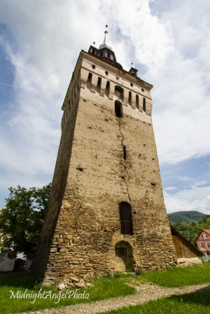 The tower of the fortified church of Saschiz