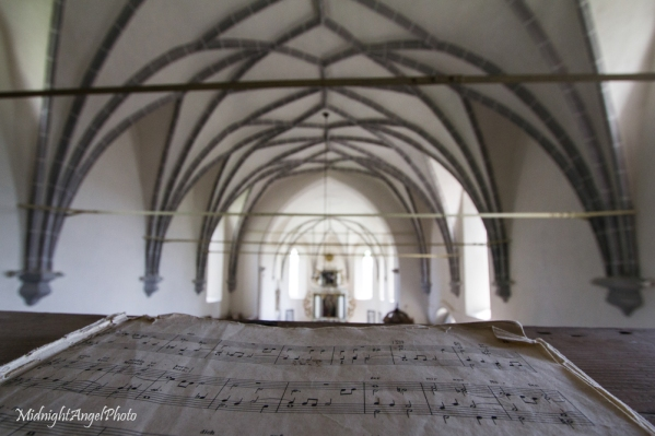 Inside the Fortified Church of Saschiz