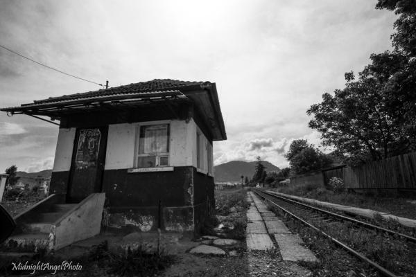 Train tracks near Bran, Romania