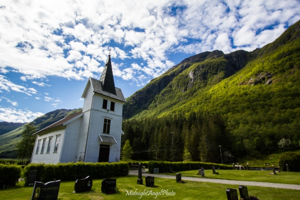 The little church in Dirdal, Norway