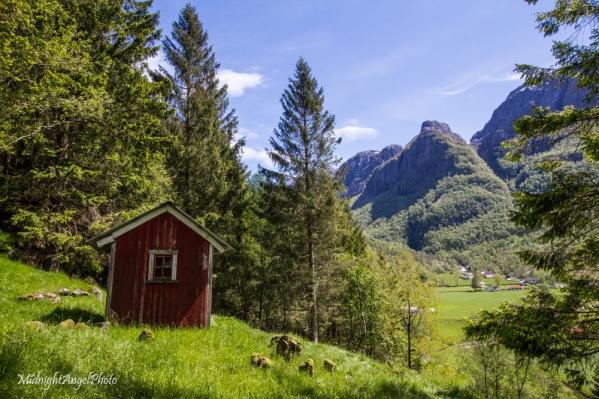 The Norwegian countryside...
