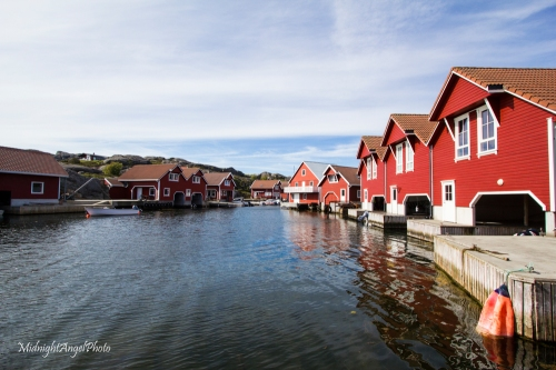 Boat houses on the island of Eigerøya