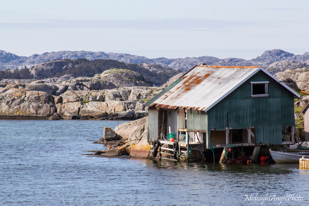 An old boat house on the island of Eigerøya
