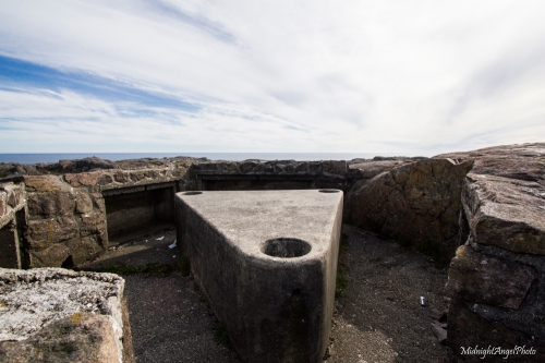 """According to a sign on site, this was the site of a """"20mm anti-aircraft gun"""""""