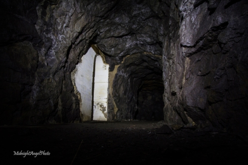 Exploring the tunnels of the old World War II complex, Vedafjell