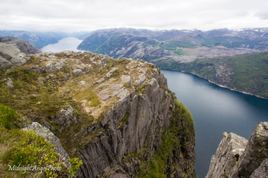 Looking down the Lysefjord